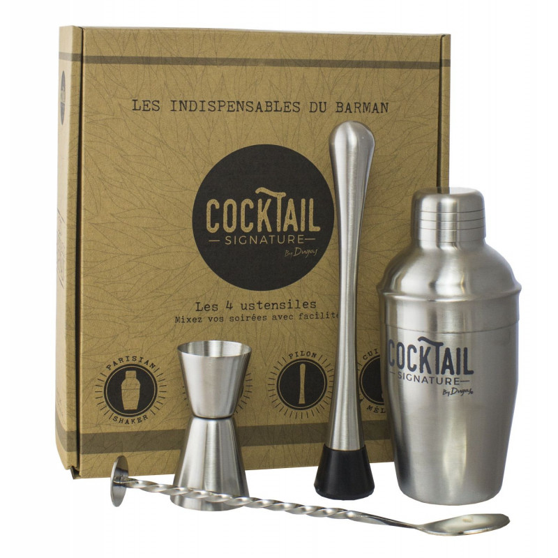 Coffret cocktail barman