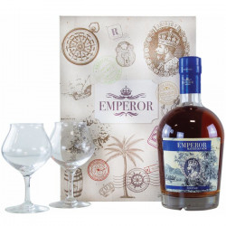 Coffret rhum Emperor Héritage - 2 verres