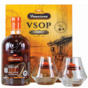 Coffret rhum Damoiseau VSOP 2 verres