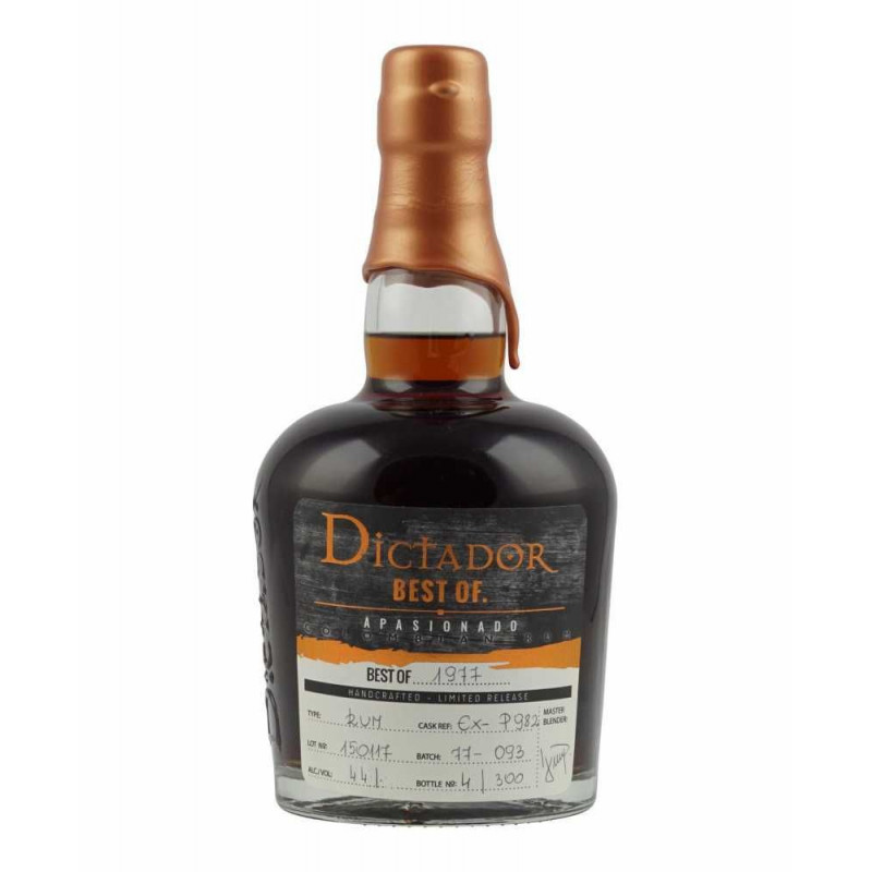 Rhum vieux Dictador Best Of 1977