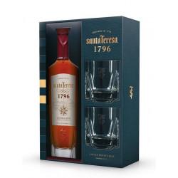 Coffret rhum Santa Teresa 1796 + 2 verres