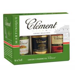 Coffret rhum Clément 6 x 5cl