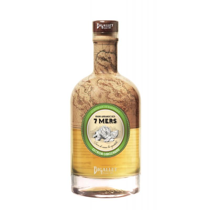 Rhum Arrangé Gingembre Citron Vert Bigallet