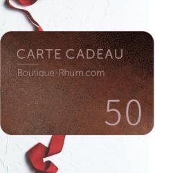 Carte Cadeau Rhum 50 €