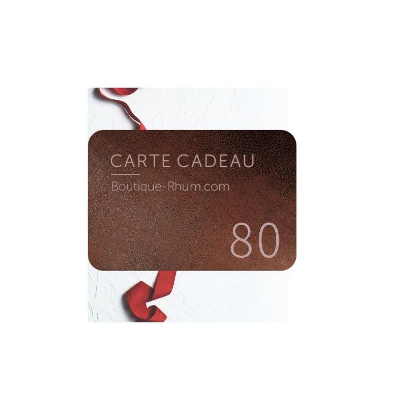 Carte Cadeau Rhum 80 €