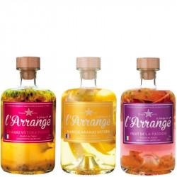 Rhum Arrangé Tricoche Ananas-Passion, Mangue-Ananas, Passion