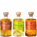 Rhum Arrangé Tricoche 3 x 20 cl Mangue Abricot, Ananas Citron, Orange Passion