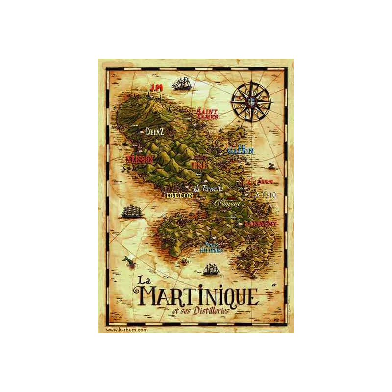 Carte Rhum Martinique