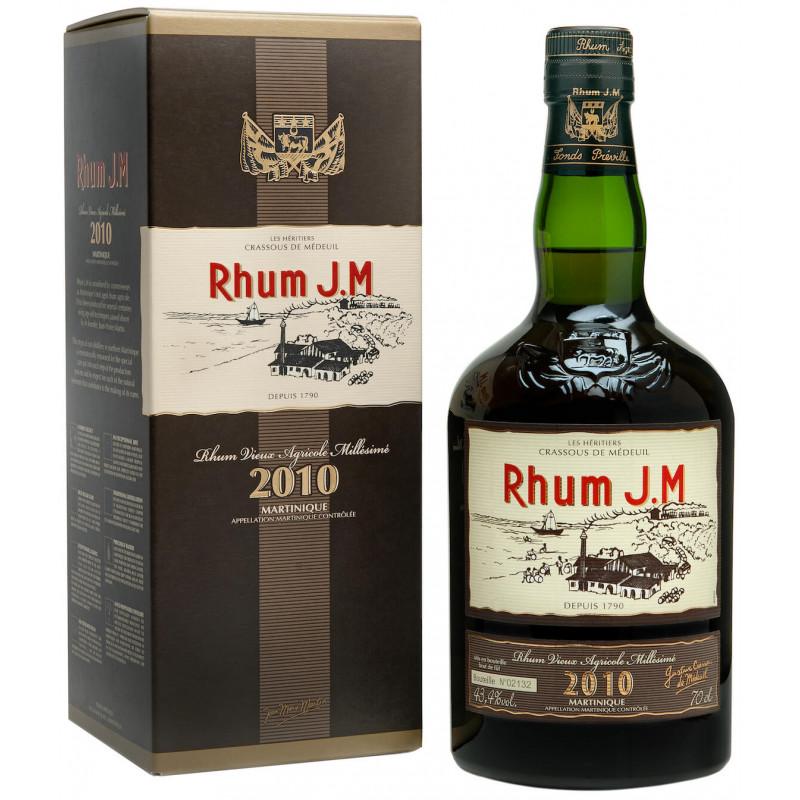 Rhum JM Millésimé 10 ans Millésime 2010