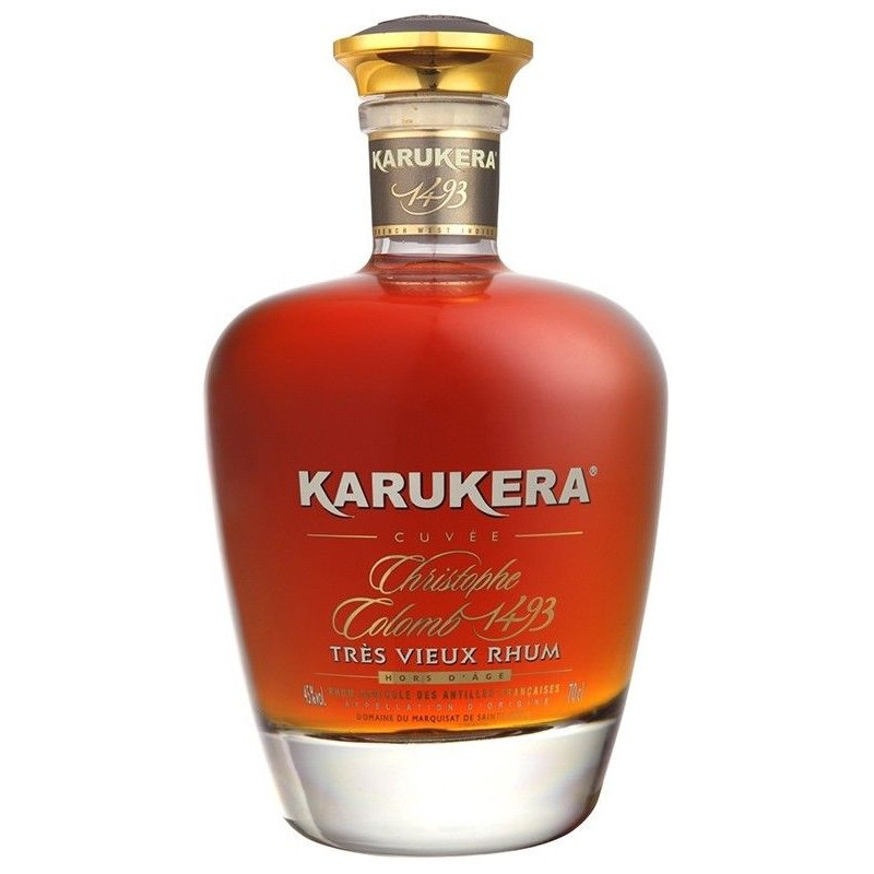 Rhum de Guadeloupe Karukera Cuvée Christophe Colomb 1493 Carafe