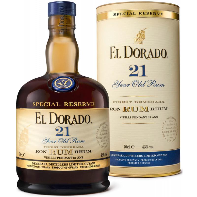 Rhum vieux El Dorado 21 ans