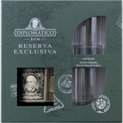 "Coffret rhum Diplomatico ""Perfect Serve"""