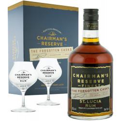 Coffret rhum vieux Chairman's Reserve - 2 verres
