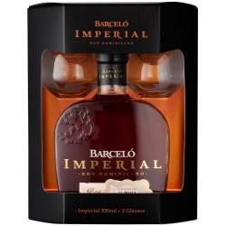 Coffret rhum Barcelo Imperial 2 verres