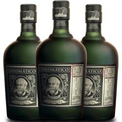Rhum Diplomatico Reserva Exclusiva - Pack 3 bouteilles