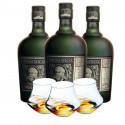 Diplomatico Reserva Exclusiva - Pack 3 bouteilles + 3 verres