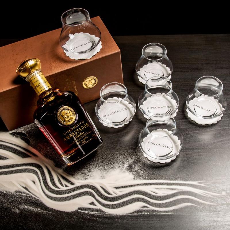 Rhum Diplomatico Ambassador + 6 verres