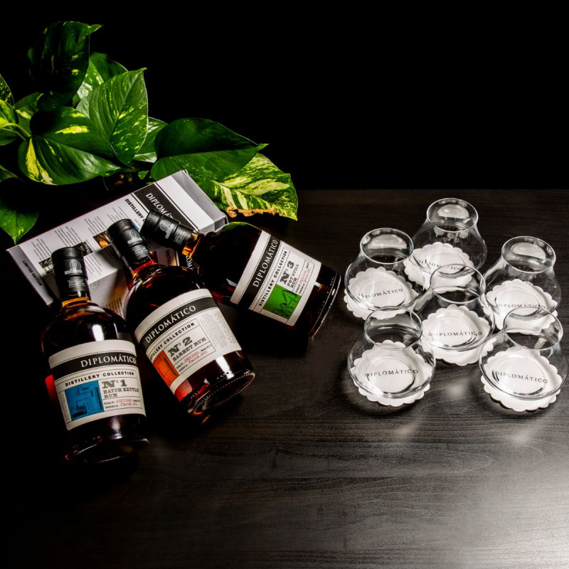 Pack Diplomatico Distillery Collection n°1, 2 et 3 + 6 verres
