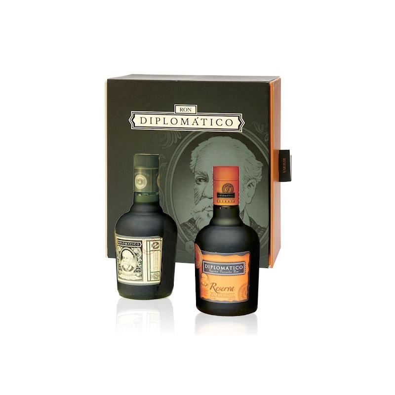Coffret rhum Diplomatico 2 mini bouteilles 35cl