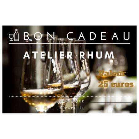 Bon Cadeau Atelier Rhum - 25 Euros