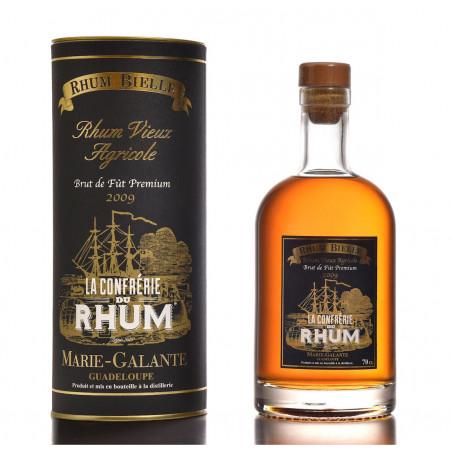 Rhum Bielle brut de fût 2009 sélection Confrérie du Rhum Fût n°101