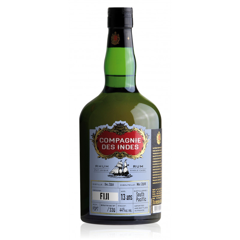 Rhum Compagnie des Indes Fiji South pacific 13 ans single cask