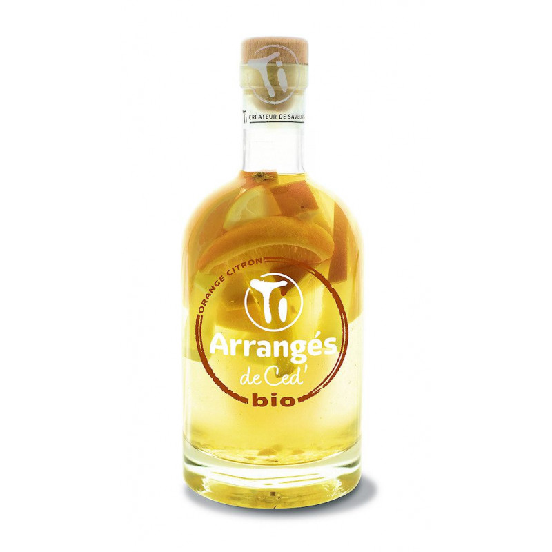 Rhum arrangé de Ced bio Orange Citron