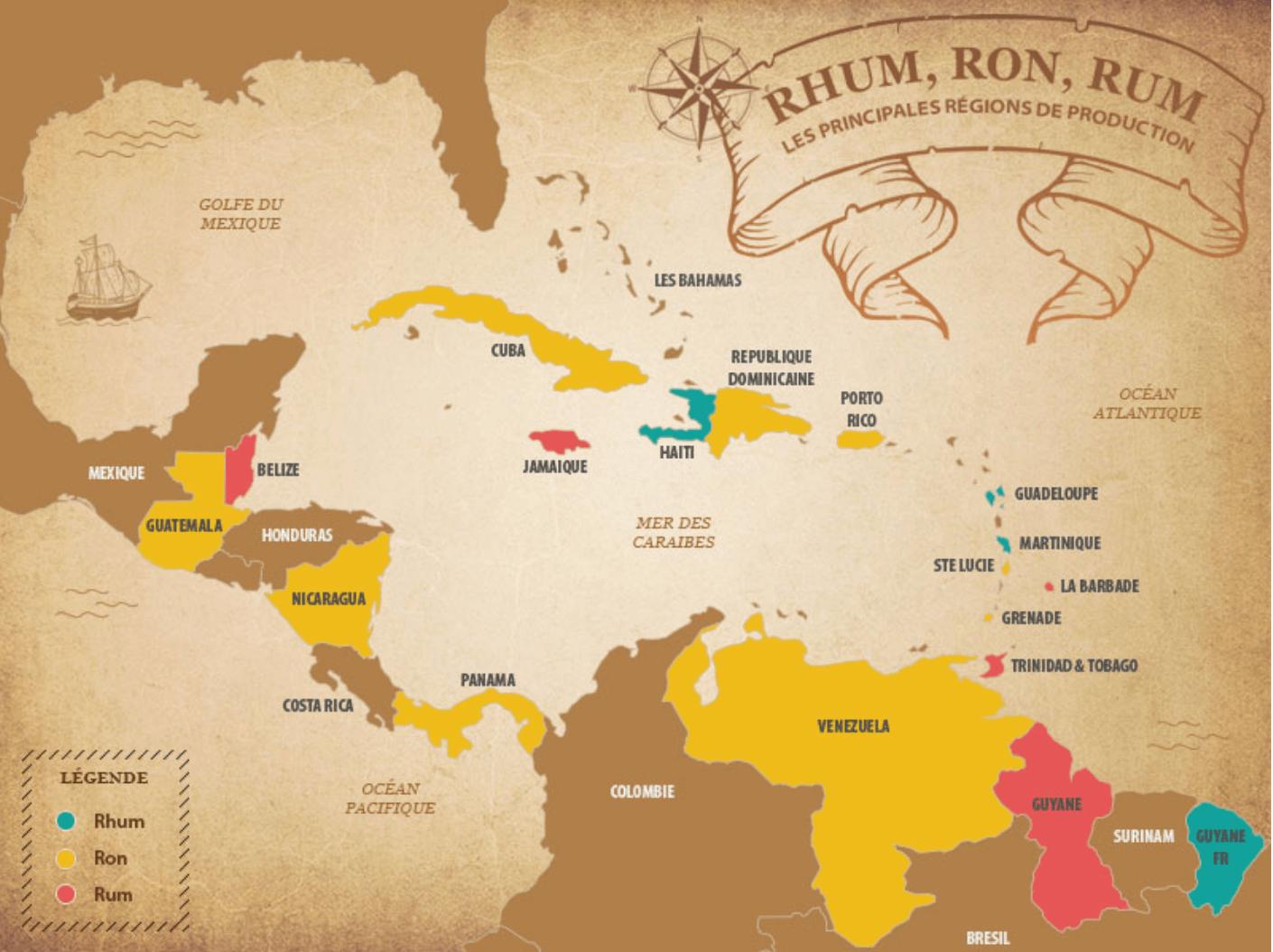 Rhum, Ron, Rum
